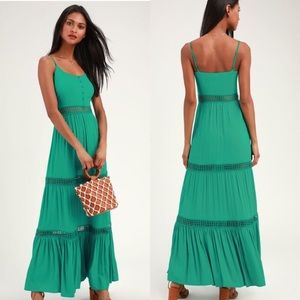 Jack by BB Dakota • Green Maxi Dress